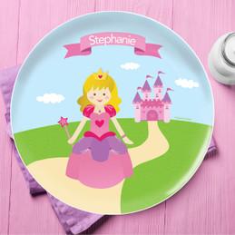 Sweet Little Princess Kids Plate