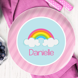 A Rainbow In The Sky Kids Plates