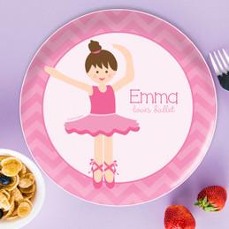Sweet Ballerina Kids Plates