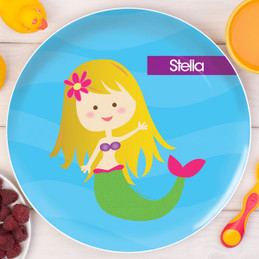 Cute Mermaid Kids Plates
