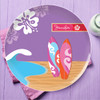 Surfing The Waves Personalized Melamine Plates