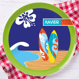 Surf the Waves Personalized Melamine Plates