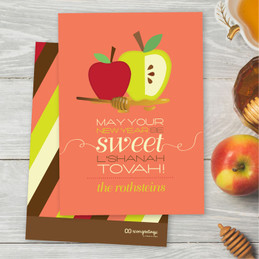 Rosh Hashanah Cards Personalized | Honey Apples