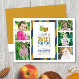 Sweet Honey Apples Jewish New Year Card