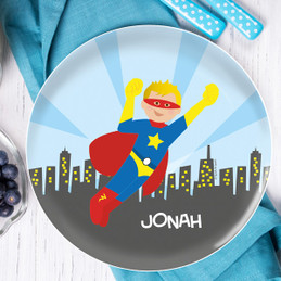 Cool Superhero Kids Plates