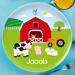 A Day In The Farm Kids Plates