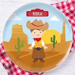 Cowboy Kids Plate