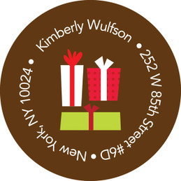 Xmas Gifts Chocolate Christmas Address Labels