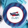 Airplane Ride Personalized Kids Plates
