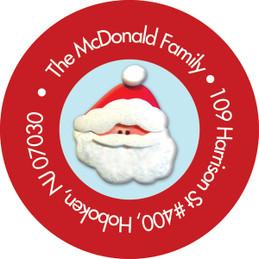 Santa's Friends Christmas Address Labels