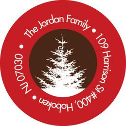 Xmas Hapinness Christmas Address Labels