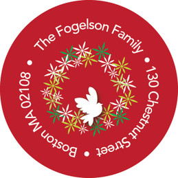 Wreath Of Peace Christmas Address Labels