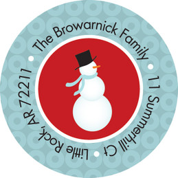 Cute Snowman Christmas Address Labels