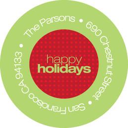 Xmas Loops Christmas Address Labels