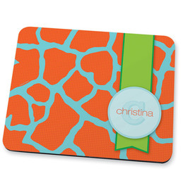 Cute orange rocks Mouse Pad