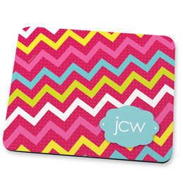 Simply pink chevrons Mouse Pad