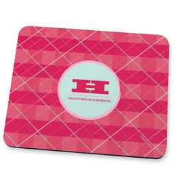 pink criss cross Mouse Pad