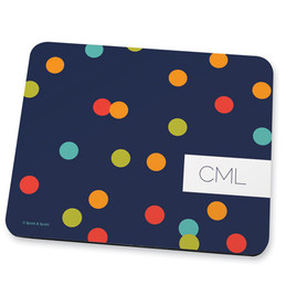 Blue & Colorful dots Mouse Pad