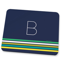 Blue real simple Mouse Pad