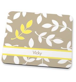 Leafy Bunch Yellow Mouse Pad