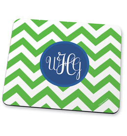 Classic green chevron Mouse Pad