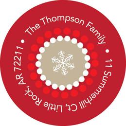 Photo Ornaments Khaki Christmas Address Labels