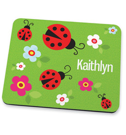 Curious Lady Bug Mouse Pad