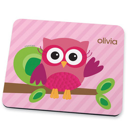 Pink Owl Be Yours Mouse Pad