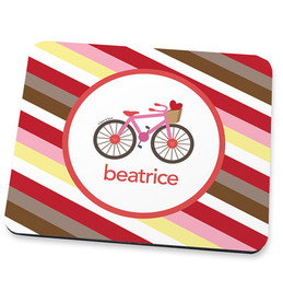 A Lovely Girl Ride Mouse Pad