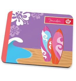 Surfing the Waves Mouse Pad
