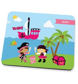 Yo Ho Pirate Girl Mouse Pad