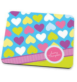 Happy Hearts Mouse Pad