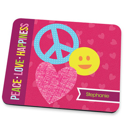 Peace & Love Signs Mouse Pad