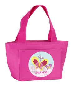 Smiley Butterfly Kids Lunch Tote