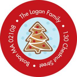 Yummy Xmas Cookies Christmas Address Labels