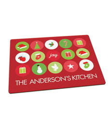 Christmas Symbols Cutting Board