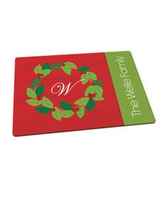 Elegant Wreath Cutting Board