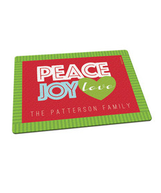 Peace, Joy, and Love Cutting Board