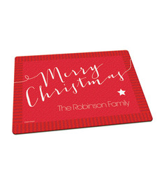 Merry Christmas Message Cutting Board