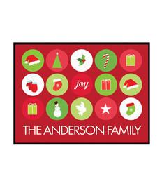 Christmas Symbols Doormat