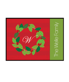 Elegant Wreath Doormat