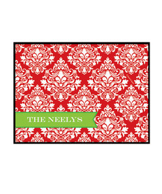 Red Damask Wonder Doormat