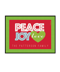 Peace, Joy and Love Doormat