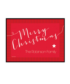 Merry Christmas Message Doormat