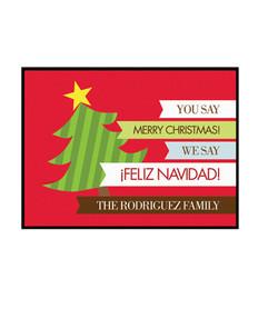 We Say Feliz Navidad Doormat