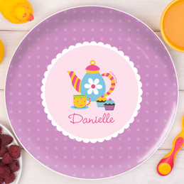 Tea Time Personalized Plates For Kids