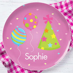 Sweet Bday Girl Personalized Kids Plates
