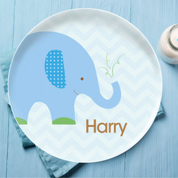 Blue Baby Elephant Kids Dinnerware