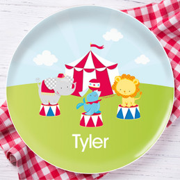 Fun Circus Personalized Kids Plates