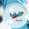 Fly Little Plane Personalized Plates For Kids